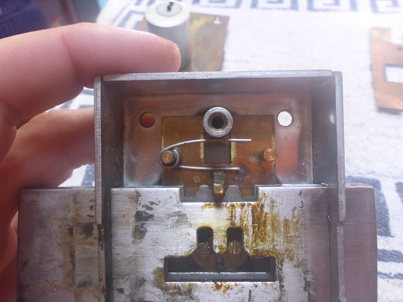 Amel Super Maramu 2000 Broken Lock on Companion Way