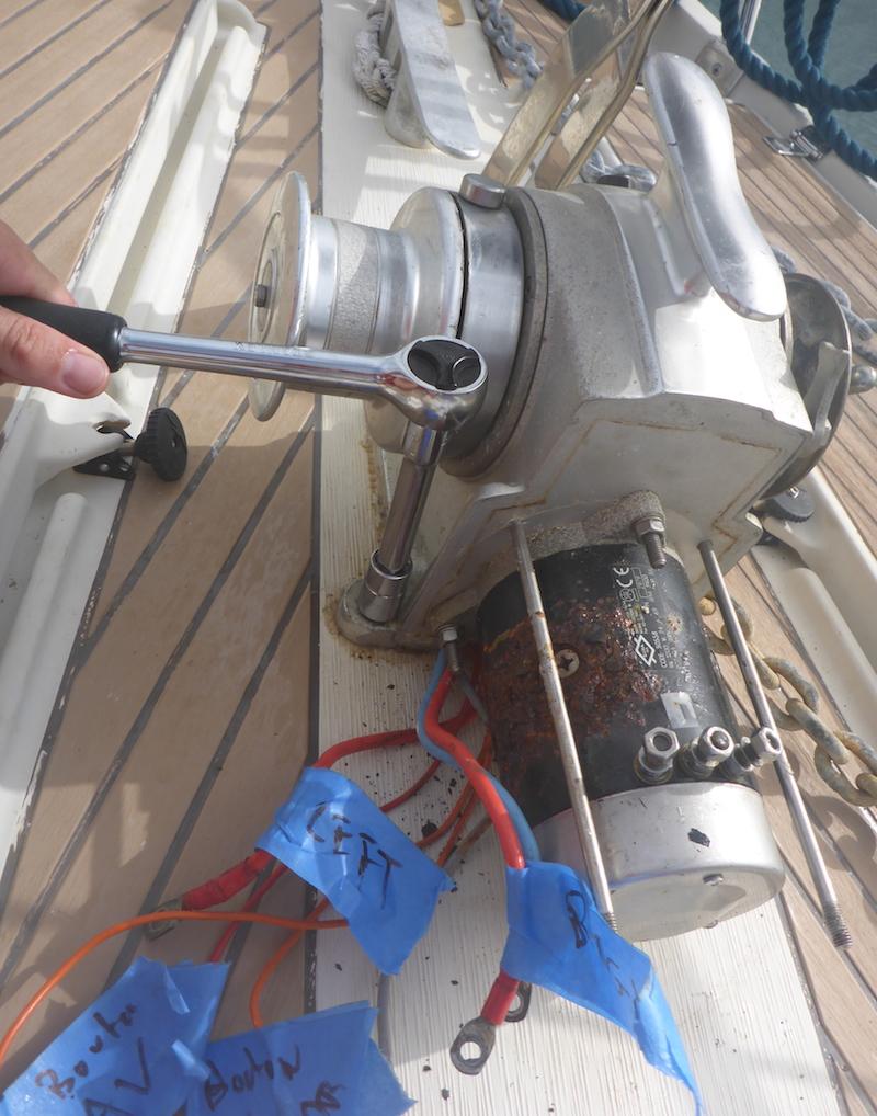 lofrans tigres windlass overhaul for Amel Super Maramu 2000